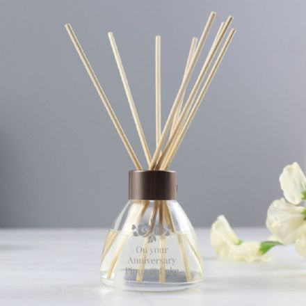 Personalised Vintage Rose Reed Diffuser